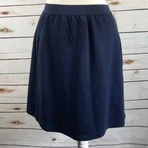 9-1 STCL Anthropologie Blue Jacquard Skirt